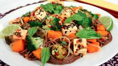Chili Lime Tofu and Butternut Squash with Soba Noodles by Pay Chen