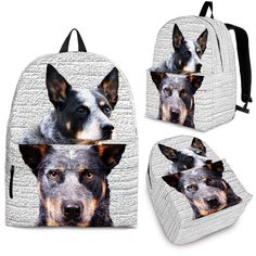 6a92a7cd91a5 Australian Cattle Dog Print Backpack-Express Shipping – The Whisker Depot  Dog Products, Animal