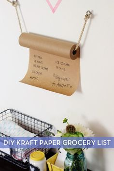 Make It: A $10 Hanging Grocery List » Curbly | DIY Design Community