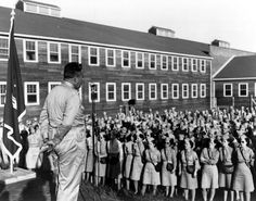 General Leslie Groves addresses the servicewomen at Oak Ridge, TN, during #WWII. #ManhattanProject