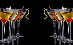Classic martini - Most popular cocktails series. Classical martini in chilled gl , Tea Cocktails, Vodka Drinks, Yummy Drinks, Alcoholic Drinks, Classic Cocktails, Cocktail Recipes, Cheers, Most Popular Cocktails, Martini Bar