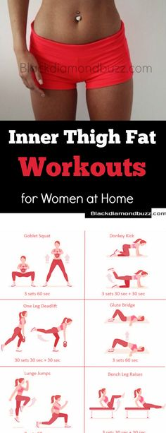 Inner Thigh Fat Workout – How to Slim Thighs and Get Rid of Thigh and Legs Fat Fast in 2 Weeks with These Best Exercise You Can Do anywhere, at home and Gym. Inner Thigh Fat Workout How to Slim Thighs and Get Rid of Thigh and Legs Fat Fast in 2 Weeks with Fitness Workouts, At Home Workouts, Fitness Tips, Health Fitness, Gym Fitness, Leg Workout At Home, Home Gym Exercises, Health App, Muscle Fitness