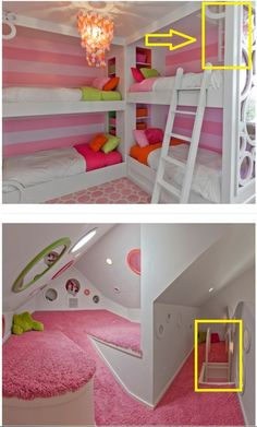Pin by Shirley Farquhar on Indoors – hidden rooms doors - Versteckte Räume Teenage Bedroom Ideas Ikea, Cute Bedroom Ideas, Cute Room Decor, Teenage Girl Bedrooms, Girl Bedroom Designs, Awesome Bedrooms, Cool Rooms, Bedroom Girls, Childs Bedroom