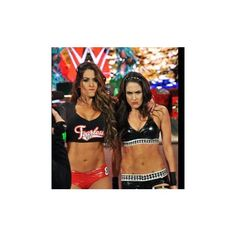 Natalya vs. Brie Bella photos ❤ liked on Polyvore featuring the bella twins and wwe