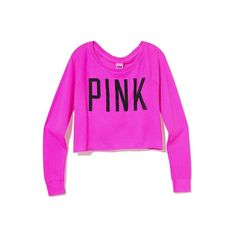 Victoria's Secret New! Crop Raglan Tee ($30) ❤ liked on Polyvore
