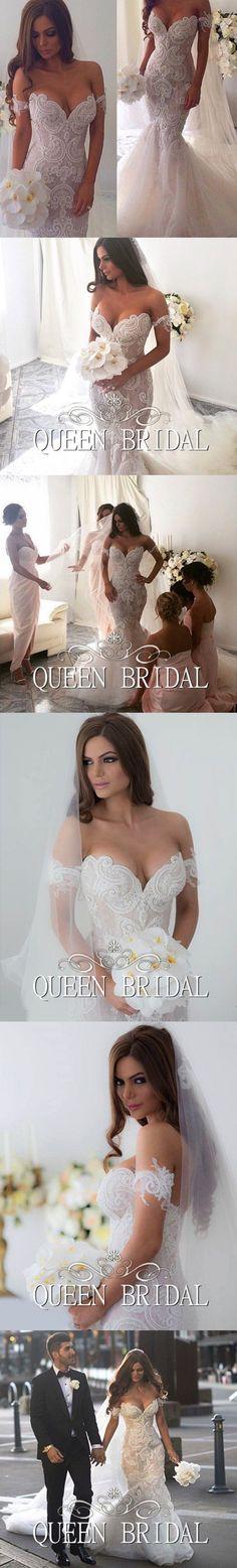 Vestidos de novia mermaid wedding gown fish tail fashionable sexy wedding dresses 2015 pearls beaded lace applique PA29 $368