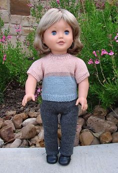 Ravelry: Free American Girl Doll Plain White T-Shirt pattern by Jacqueline Gibb