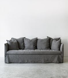 Luxury Linen Couch Covers , Perfect Linen Couch Covers 22 About Remodel Sofas an… - Furniture World Linen Couch, Sofa Couch Bed, Couch Set, Diy Sofa, Grey Couch Covers, Sofa Covers, Best Couch Covers, White Couch Cover, Sofas