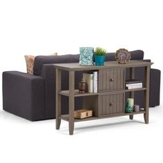 Wyndenhall Normandy/Brown Wood Console Sofa Table