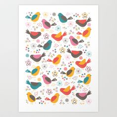 Quirky+Chicks+Art+Print+by+Poppy+&+Red+-+$16.00