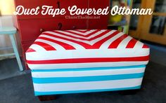 #DuctTape Covered Ottoman @Duck Brand