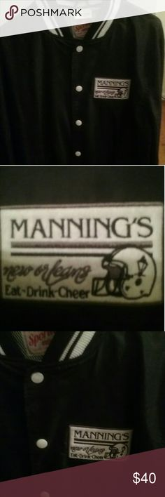 Mannings  New Orleans  Jacket Mannings Eat-Drink-Cheer Jacket Sportige Apparel Jackets & Coats Lightweight & Shirt Jackets