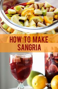 Sangrai Tinto // my go-to sangria recipe!