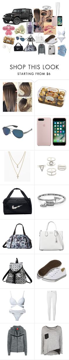 """""""I am a Jeep 🚙 girl"""" by kcartee1406 on Polyvore featuring Wrangler, Costa, LOFT, Charlotte Russe, NIKE, Alex and Ani, MICHAEL Michael Kors, Converse, Hot Anatomy and Burberry"""