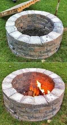 DIY Yard Brick Projects, Simple DIY Fire Pit.