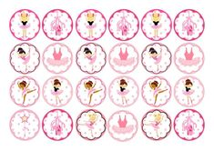 24 Ballet Ballerina tutu pumps Cake Toppers On Icing by -- See this great product. (This is an affiliate link) Mermaid Cupcake Toppers, Mermaid Cupcakes, Edible Cupcake Toppers, Cupcake Icing, Unicorn Cupcakes, Cupcake Cakes, Cupcake Bailarina, Ballerina Cupcakes, Ballerina Party