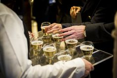 Champagne being served at 155 Regent Street | Corporate Events | Drinks