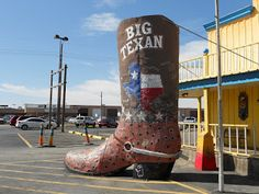 Everything IS bigger in Texas :) The Big Texan Steak House - Route 66, Amarillo, TX