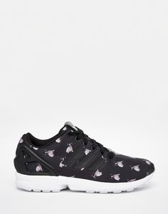 Image 1 of adidas Originals x Rita Ora Pug Print ZX Flux Sneakers