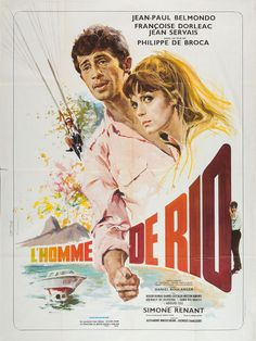 French grande for THAT MAN FROM RIO (Philippe de Broca, France, 1964) Designer: René Ferracci (1927-1982); Artist: Yves Thos [see also] Poster source: Heritage Auctions