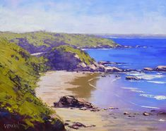 """""""Low tide colours at Port Macquarie"""" by Graham Gercken. Paintings for Sale. Paintings For Sale, Beach Paintings, Oil Paintings, Graham Gercken, Rainbow Serpent, Port Macquarie, Impressionist Landscape, Calm Before The Storm, Buy Art Online"""