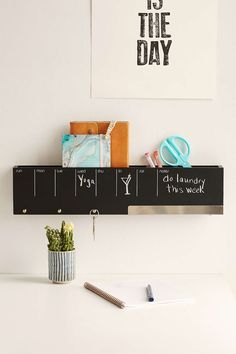 Three By Three Seattle Sort-It-Out Wipe-Off Board Wall Caddy