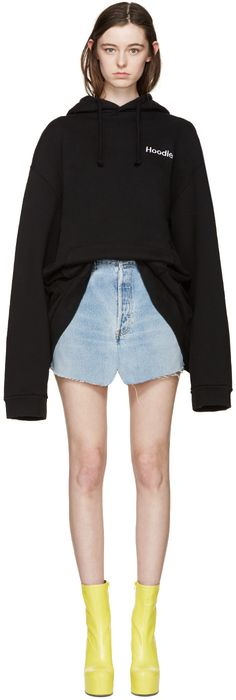 Vetements - Black Oversized Hoodie