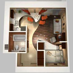 small apartment design - cute