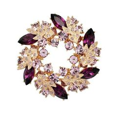 distintive & stylish BUYINHOUSE Ladies Girls Golden Plated Flashing Rhinestones Crystals Bauhinia Flower Chinese Redbuds Brooches Corsage Pin Clips (Purple Style) Buyinhouse http://www.amazon.com/dp/B00JQU5HLW/ref=cm_sw_r_pi_dp_SPX8ub05470NX