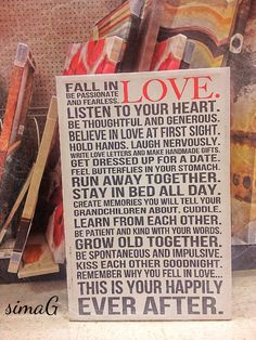 Love ~ wall art from Target
