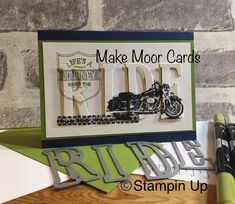Stampin Up Wild Ride Eclipse card #Eclipse cards # Stampin up #masculine