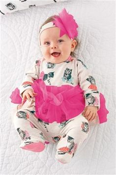 a17cadc6d5 Buy Cat Print Tutu Suit With Headband Two Piece Set from the Next UK online  shop