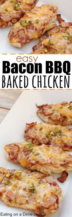 Need easy chicken dinner ideas? Make this BBQ Bacon Chicken dinner idea that you can make on a budget. It is one of our favorite easy chicken recipes.