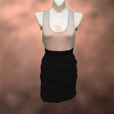 """Racer back dress This dress has a tshirt material top in gray and a ruffled. Measurement from top of shoulder to bottom is 31"""" Ya Los Angeles Dresses"""