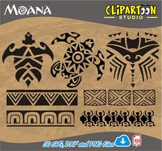 Moana Silhouette minimalist tatto Disney Moana cutting