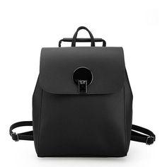 Women Backpack Lock Leather Mochila Multifunction School Bags For Teenagers