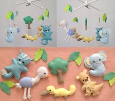Special Promotion:Baby Mobile, Crib Baby Mobile, Nursery Decor, Cute Native Australian Animals Baby Mobile, Felt mobile