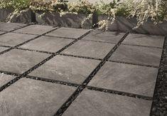 Full-body porcelain stoneware outdoor floor tiles with stone effect STONE MIX Quarzite Grey By Italgraniti Garden Tiles, Patio Tiles, Outdoor Tiles, Outdoor Flooring, Outdoor Pavers, Porcelain Vs Ceramic, Outdoor Porcelain Tile, Tile Design, Patio Design