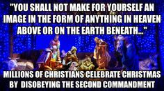 """False Church:  Christmas idolatry... I mean nativity.  Goyim Bow to Idolatry: All the sages of Israel throughout the generations considered Christianity to be paganism and idolatry and warned that one better be killed than convert.   > > > Einstein on the Abrahamic idolatries: The worship of false gods such as Yahweh is not only """"unworthy but also fatal"""", with """"incalculable harm to human progress."""" > > > Click image!"""