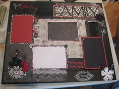 Black, White, and Red Cabinet Door Frame   Crafts by Friends