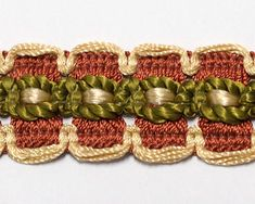 Vintage Passementerie Trim by the yard upholstery trim