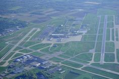 A aerial view of Dayton International Airport. Look for more insight into the project details @ http://www.airport-technology.com/projects/dayton/