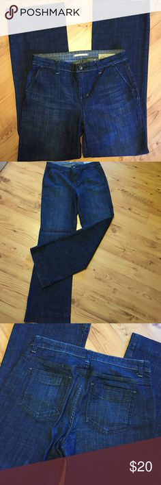 """Limited Edition GAP Jeans Dressy flat front pocket jeans...cotton spandex blend with a little stretch. These are great for casual Friday...not distressed and look really dressy with blazer or sweater. Rise 9"""". Inseam 32"""". Across hem 9"""" and across waist 16.5 almost 17"""" GAP Jeans"""