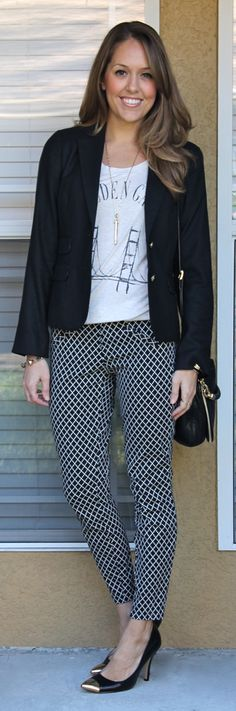 Outfits with Graphic Tees. Remember the cute polka-dotted pants at Steinmart? They would work in this outfit.