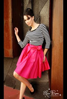 The Audrey Skirt in Pink