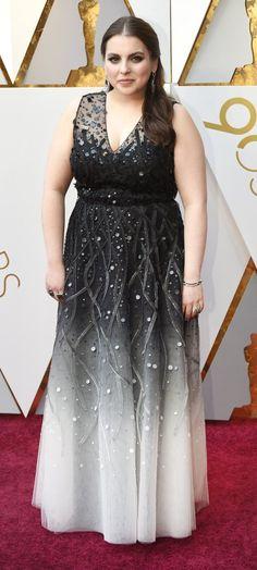 Beanie Feldstein in Sachin & Babi - Oscars 2018 Red Carpets, Oscars, One Shoulder, Beanie, Formal Dresses, Grey, Fashion, Red Rugs, Dresses For Formal