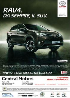 La nuova campagna della Concessionaria Central Cars di Torino in realta aumentata grazie a Visual Solutions & ar-code