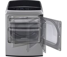 LG - EasyLoad 7.3 Cu. Ft. 12-Cycle Ultralarge-Capacity Steam Smart Electric Dryer - Graphite Steel - AlternateView1 Zoom