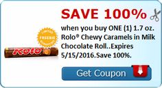 SavingStar: FREE Pack of Rolo Chewy Caramels!! - http://dealmama.com/2016/05/savingstar-free-pack-rolo-chewy-caramels/