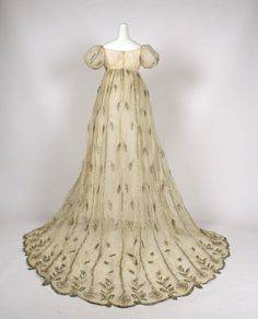 Evening Dress, French  1800